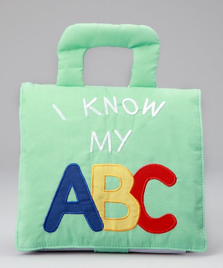 Green 'I Know My ABC' Fabric Book