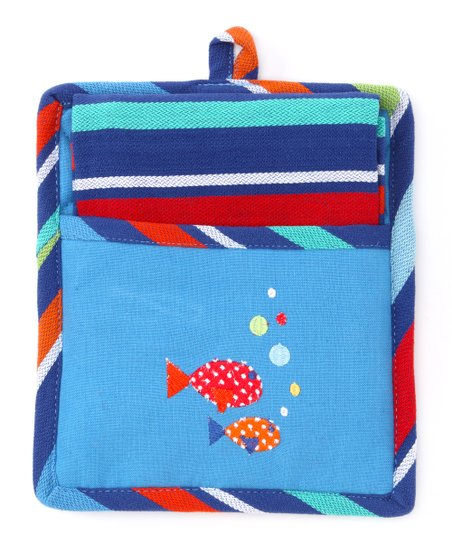 Little Fish Pot Holder & Dish Towel