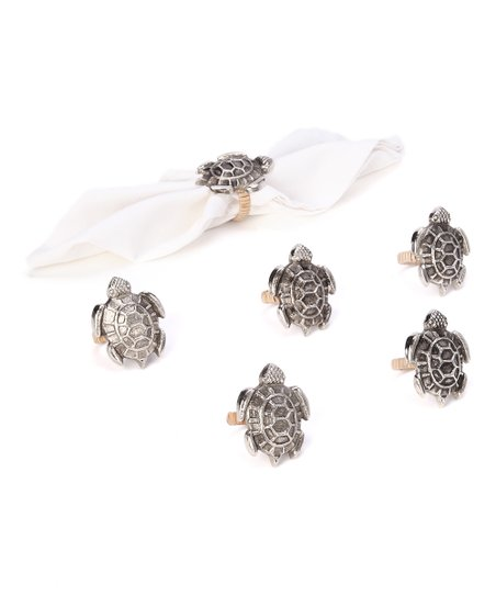 Sea Turtle Napkin Ring - Set of Six