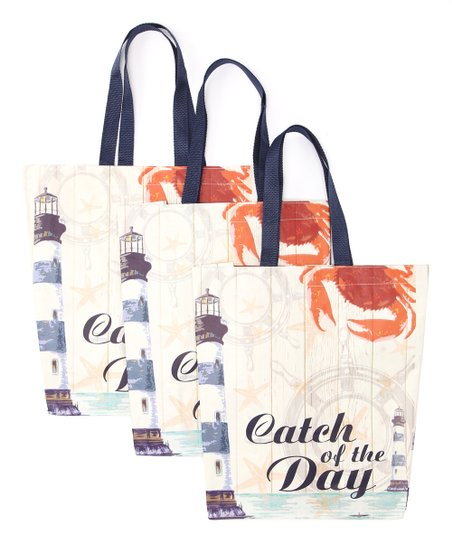 Nautical Shopping Bag - Set of Three