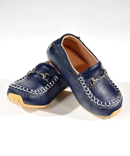 Navy Blue Moccasin