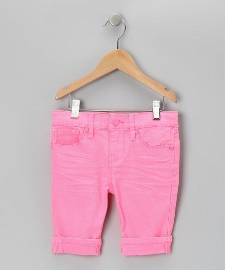 Pink Neon Bermuda Shorts
