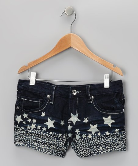 Dark Wash Star Shorts