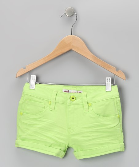 Green Neon Rivet Shorts