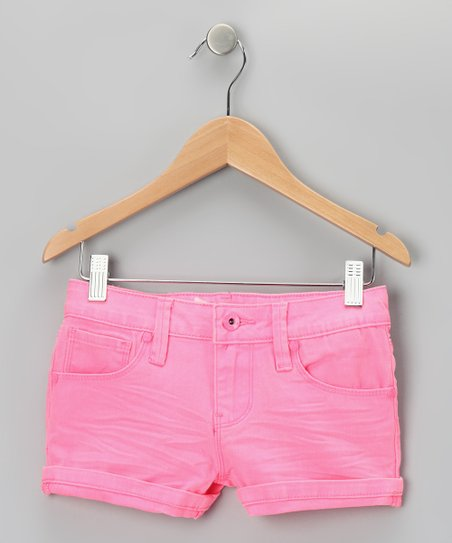 Pink Neon Rivet Shorts