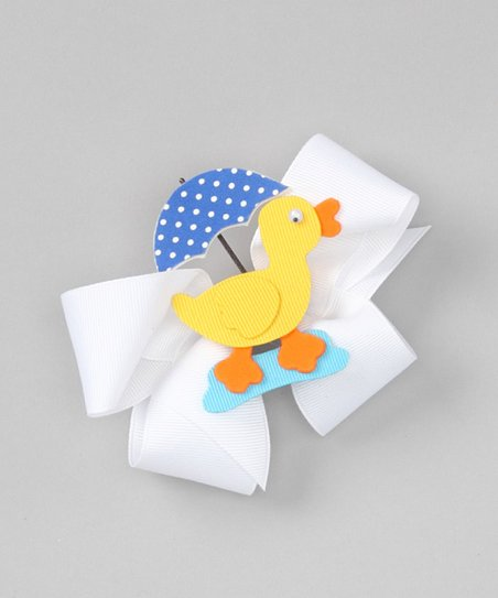 Blue & White Umbrella Duck Clip