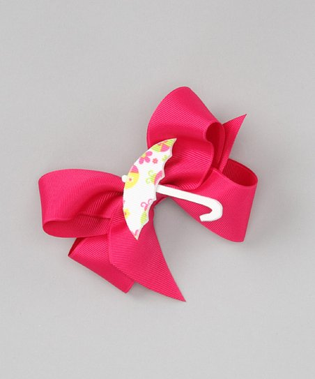 Pink & White Umbrella Clip