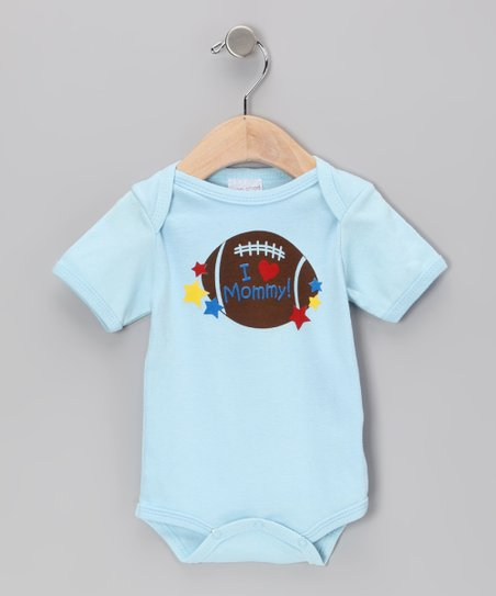 Light Blue I Love Mommy Bodysuit - Infant
