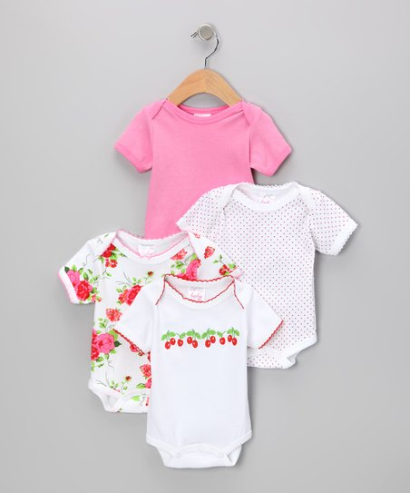 Cherry & Rose Bodysuit Set