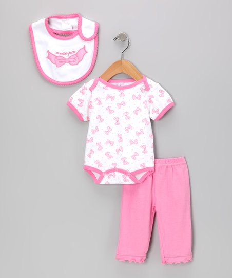 Light Pink 'Cutie Pie' Bodysuit Set