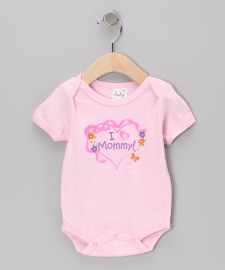 Light Pink I Love Mommy Bodysuit - Infant