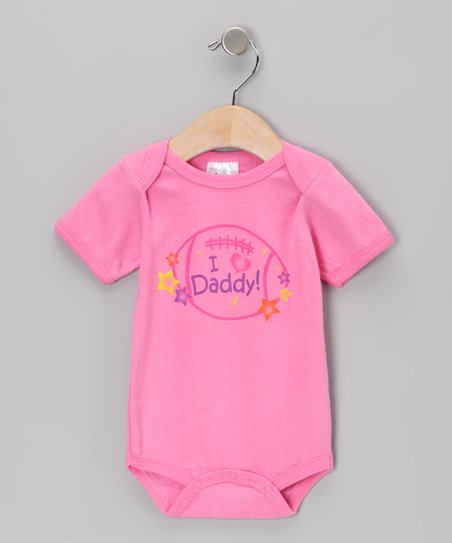 Pink 'I Heart Daddy' Bodysuit