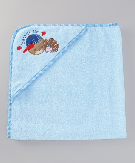 Light Blue 'Batter Up' Hooded Towel