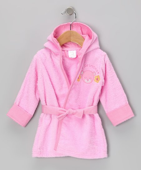 Pink 'My Princess' Hooded Bathrobe