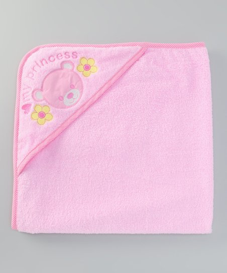 Pink 'My Princess' Hooded Towel