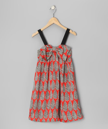 Orange Leaf Bow Dress