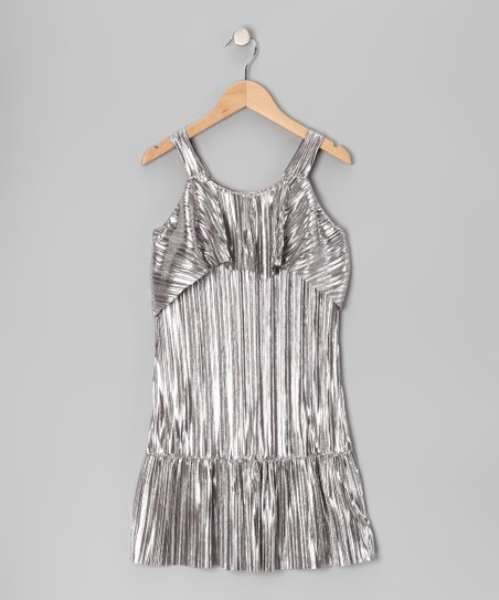 Silver Slinky Dress