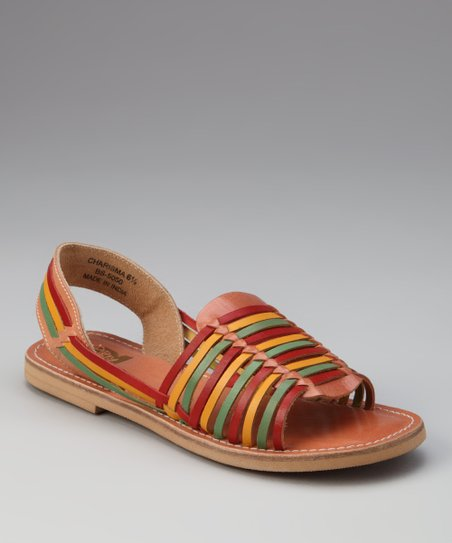 Natural & Red Charisma Sandal