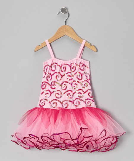 Pink & Fuchsia Skye Skirted Leotard - Infant, Toddler & Girls