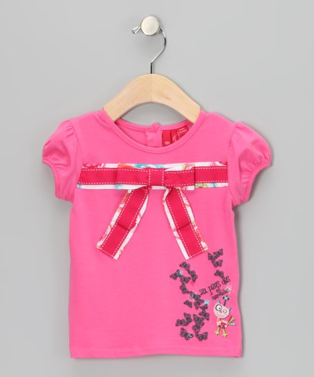 Azalea Pink Bow Top - Infant & Toddler