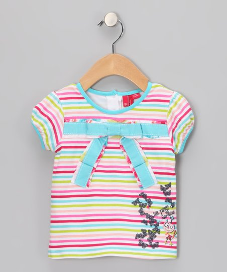 Blue Radiance Bow Top - Infant & Toddler