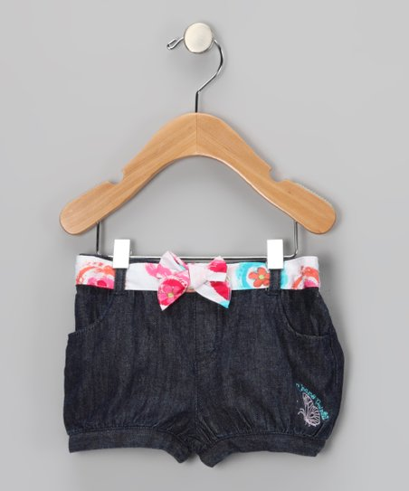 Midnight Wash Floral Butterfly Shorts - Infant & Toddler