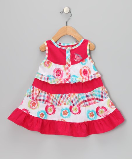 Bright Rose Woven Dress - Infant & Toddler