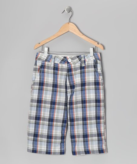 Blue & Red Plaid Nevada Shorts