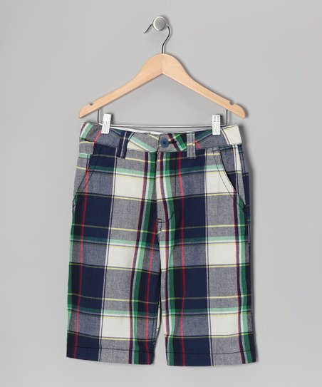 Navy Plaid Nevada Shorts