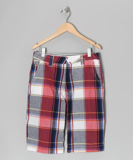 Red Plaid Nevada Shorts