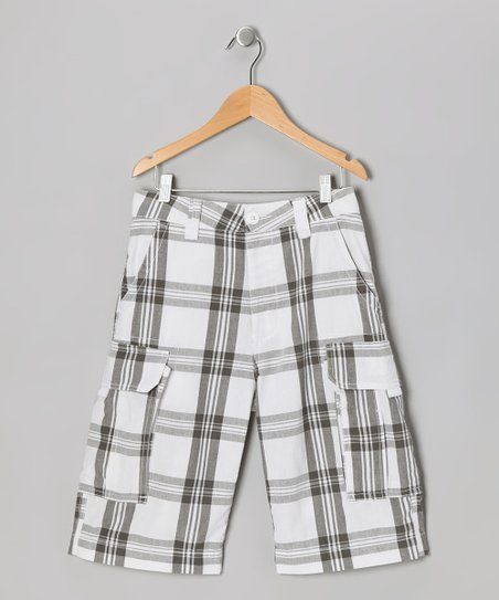 Charcoal Plaid Prescott Cargo Shorts
