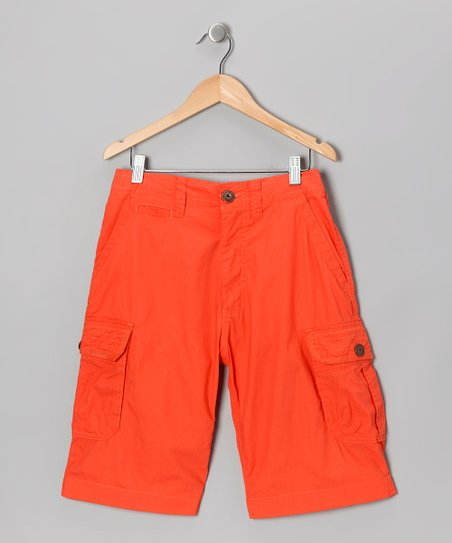 Brilliant Orange Delhi Cargo Shorts