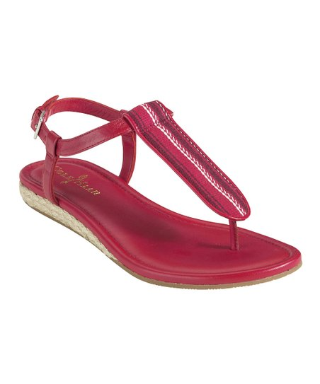 Tango Red Stripe Molly T-Strap Sandal