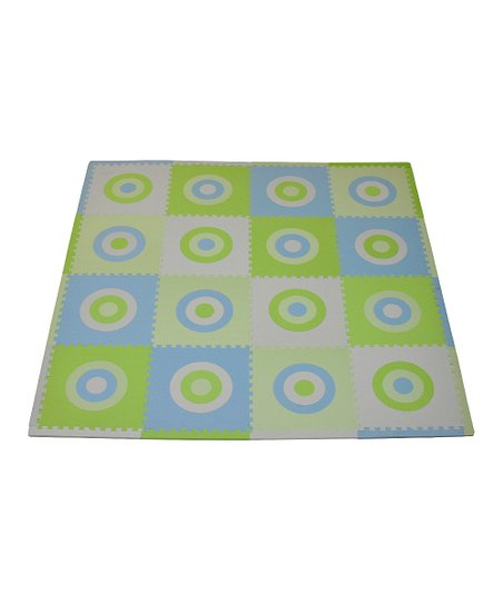 Blue & Green Circle Playmat Set