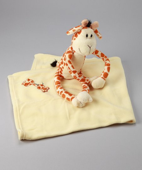 Yellow Jo Jo Giraffe Plush & Stroller Blanket Set