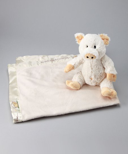 White Plush Pig in a Blanket Set