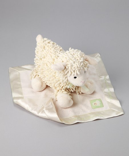 Baby Aspen Ivory Plush Love Ewe & Security Blanket Gift Set