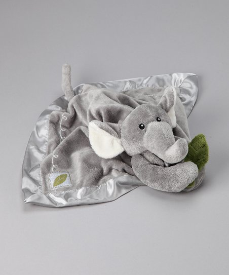Gray Plush Ekko the Elephant Rattle Lovey