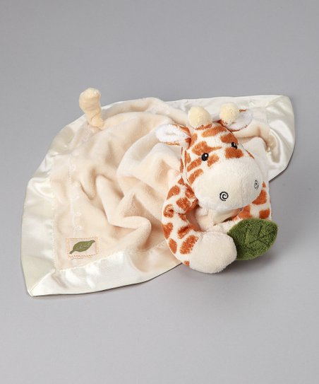 Peach Plush Jakka the Giraffe Rattle Lovey
