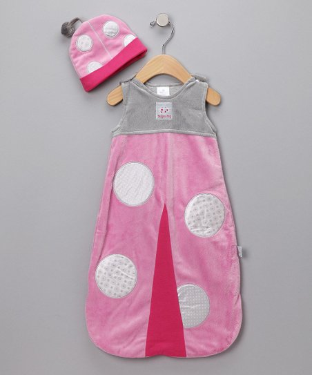 Pink Snug as a Bug Sleep Sack & Beanie