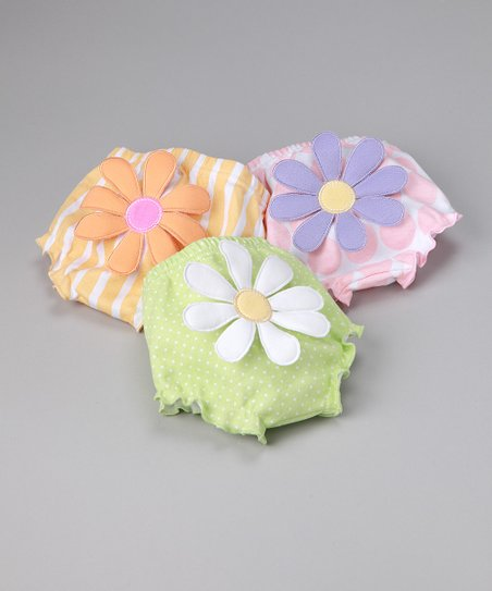 Pastel Bunch o&#039; Blooms Diaper Cover Set