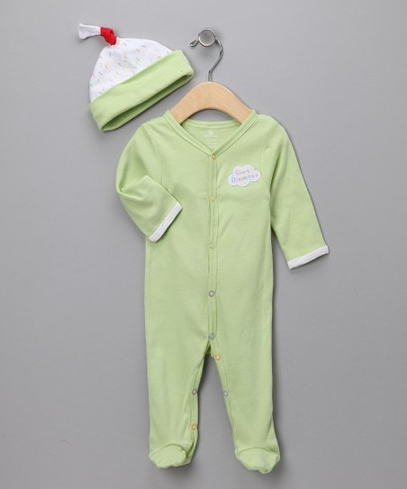 Lime 'Sweet Dreamzzz' PJs Set