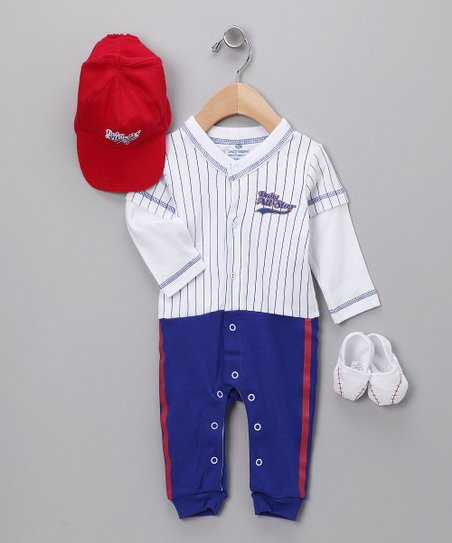 "Blue 'Baby All-Star"" Baseball Layette Set"