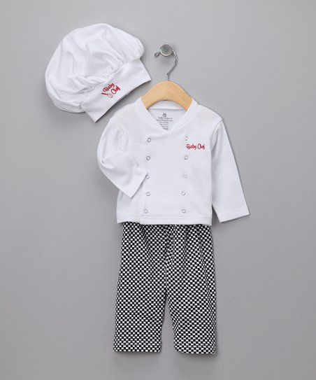 White Big Dreamzzz Chef Layette Set