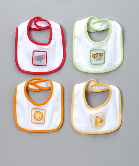 Animal Cracker Bib Set