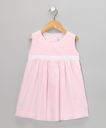 Pink Pintuck Dress - Infant & Toddler