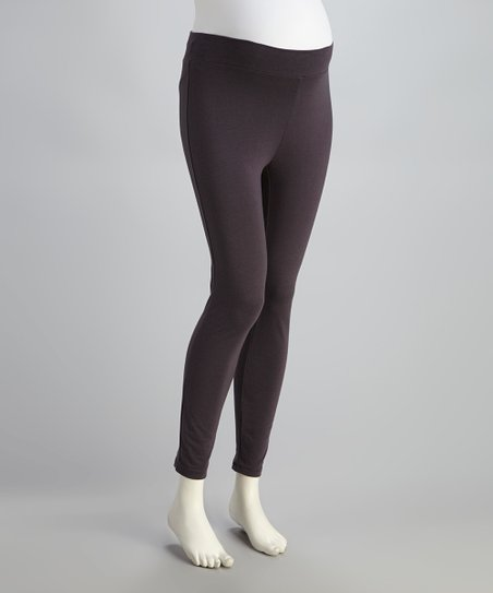 Charcoal Seamless Under-Belly Maternity Leggings