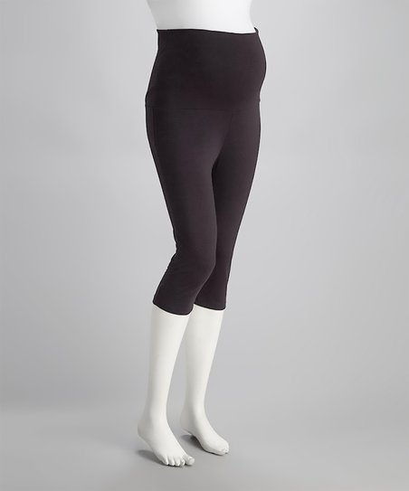 Charcoal Seamless Over-Belly Maternity Leggings
