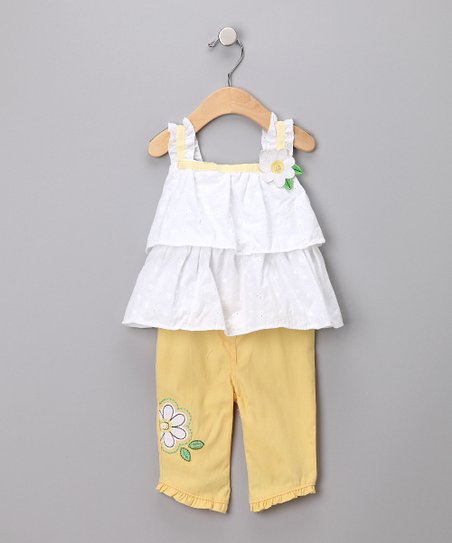Yellow Floral Tank & Pants - Infant