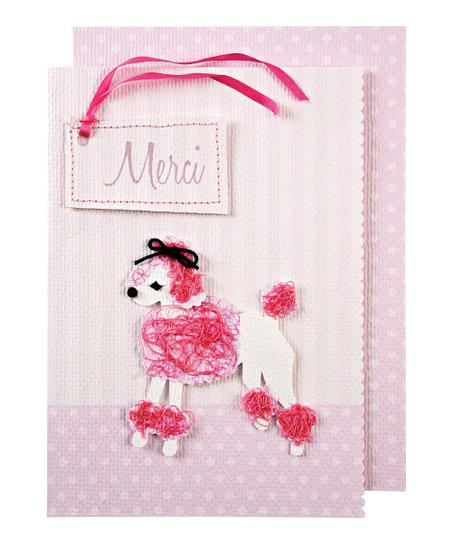 Meri Meri Puffy Poodle Thank You Card